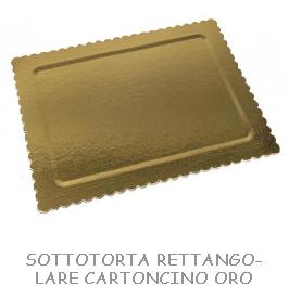 SOTTOTORTA RETTANGOLARE CARTONCINO ORO