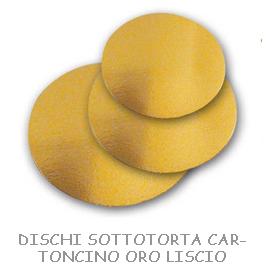 DISCHI SOTTOTORTA CARTONCINO ORO LISCIO