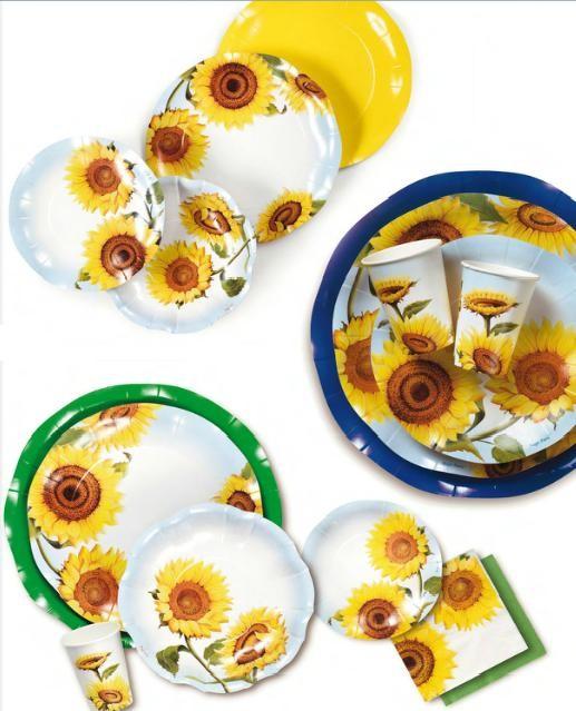 piatti girasoli