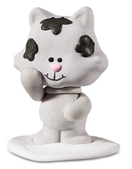 gattino grigio 3,5x4,5x2,8cm