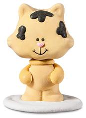 gattino giallino 3,5x4,5x2,8cm