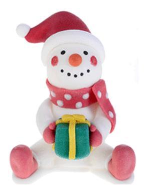 pupazzo di neve  h.8 x 6 cm