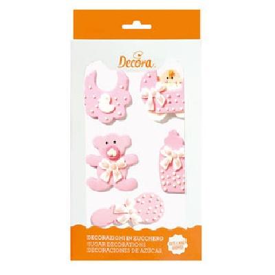 decorazioni di zucchero baby rosa € 5,50