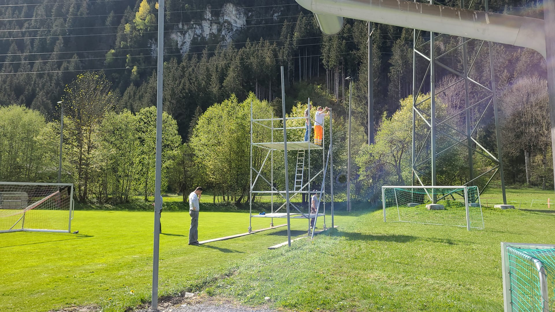 Demontage des alten Netzes...