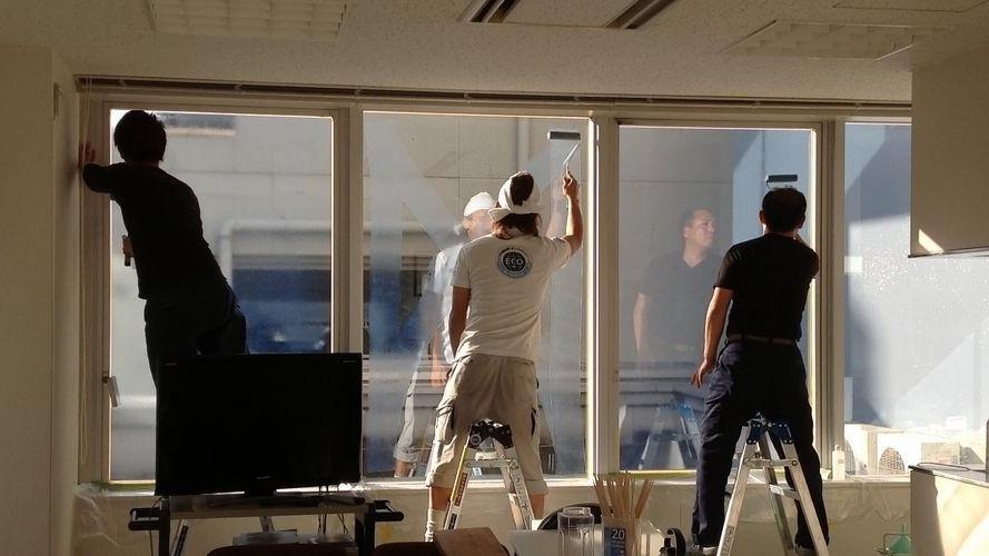 西日対策 窓ガラス遮熱工事