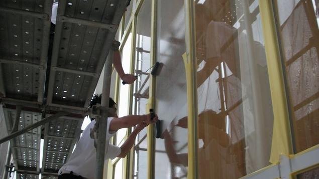 学校窓の断熱工事