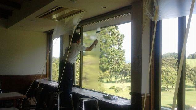断熱ガラス塗装工事