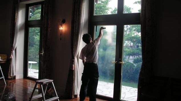 窓ガラス断熱塗装
