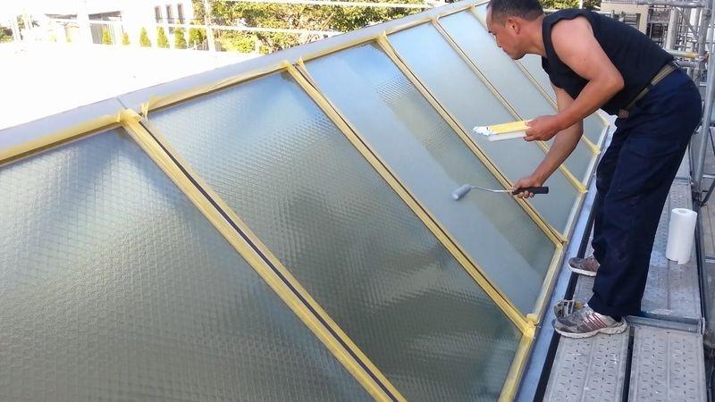 天窓トップライト断熱ガラス塗装