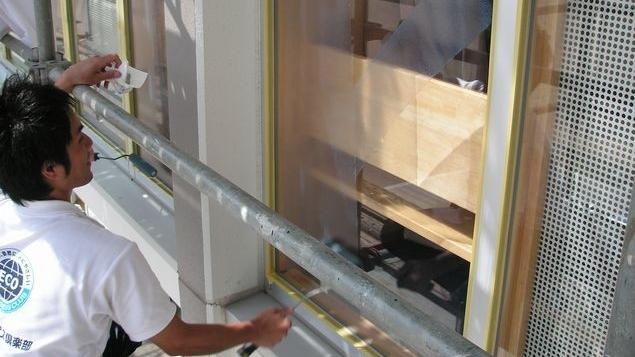教育施設 窓の省エネ化 断熱ガラス塗装