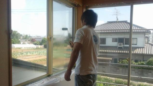 窓の陽射し対策 断熱塗装