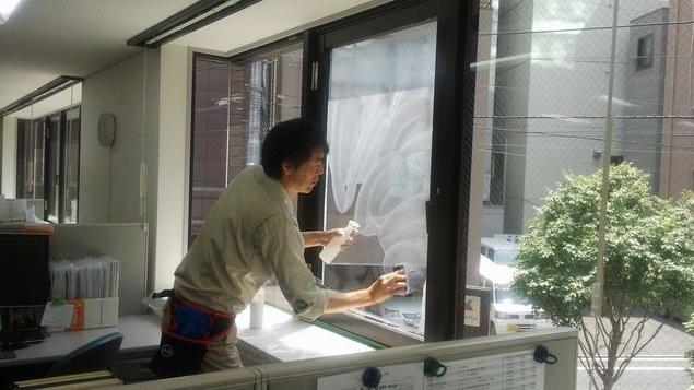 オフィス窓洗浄・油膜とり