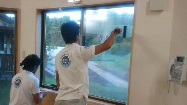 窓ガラス遮熱工事
