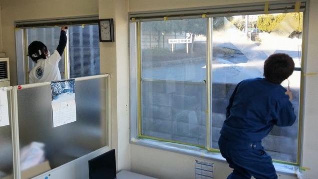 暖房熱逃げ防止ガラス塗装