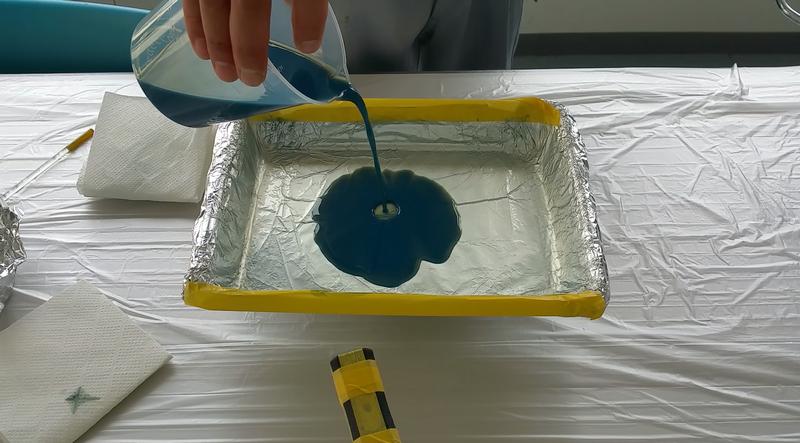 硝子1枚毎に液剤計量