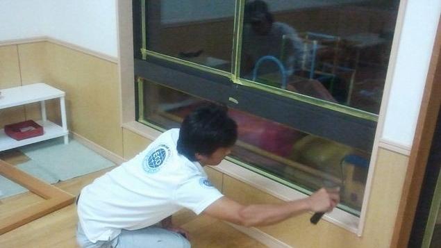 断熱ガラス塗装