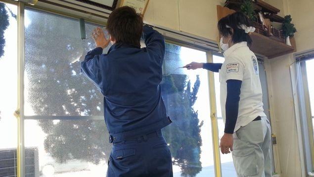 窓ガラス結露対策
