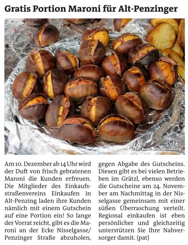Artikel in der Bezirkszeitung - Bunte Luftballonblumen im Einkaufsstraßen-Sommer