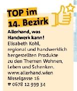 Artikel im Bezirksblatt - TOP im 14. Bezirk: Allerhand, was Handwerk kann!