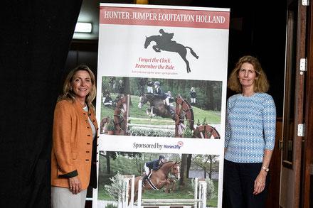 Patricia van Motman (links) en Joan Scharffenberger-Laarakkers