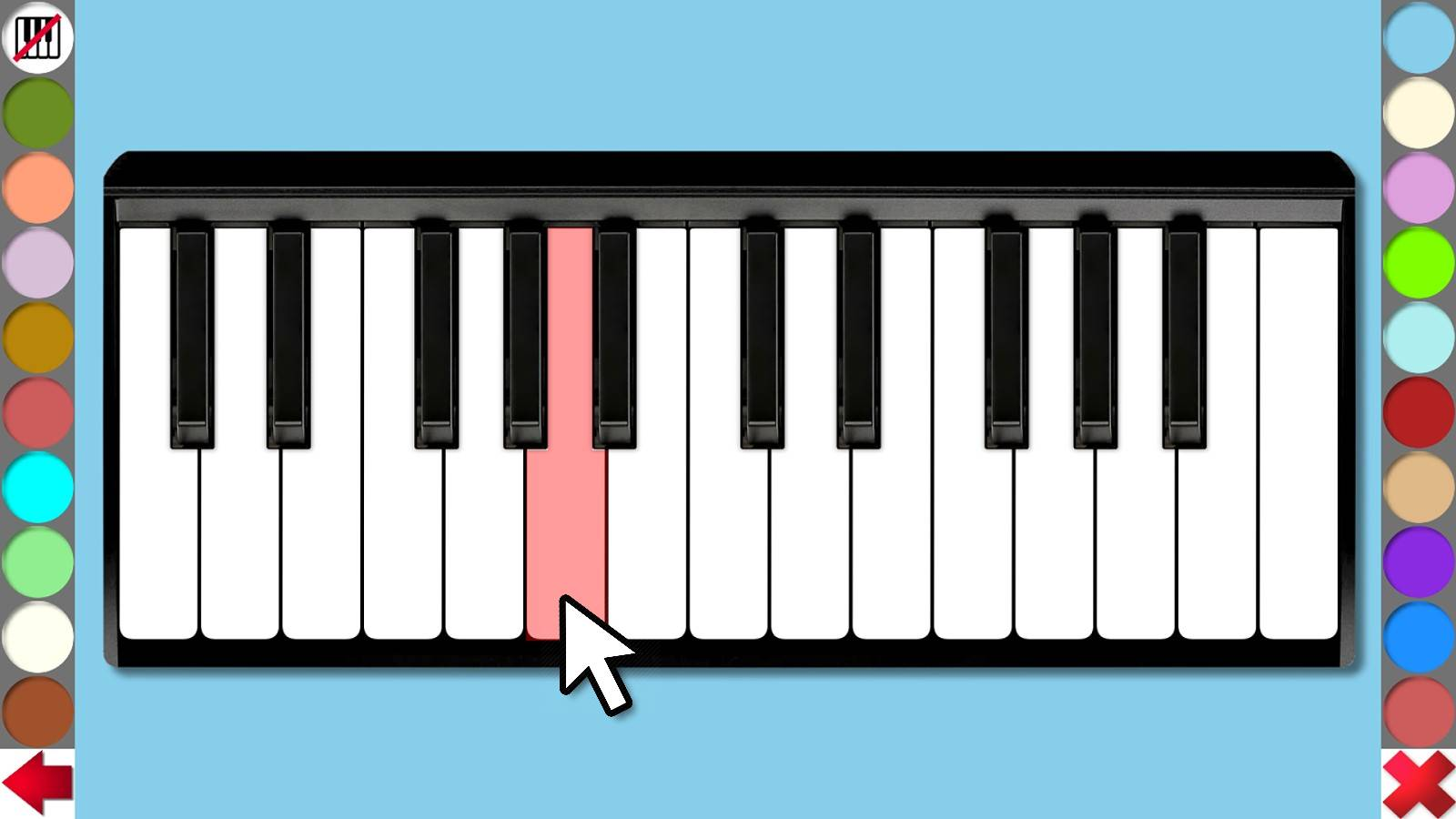 Keyboard mit 19 Klangfarben