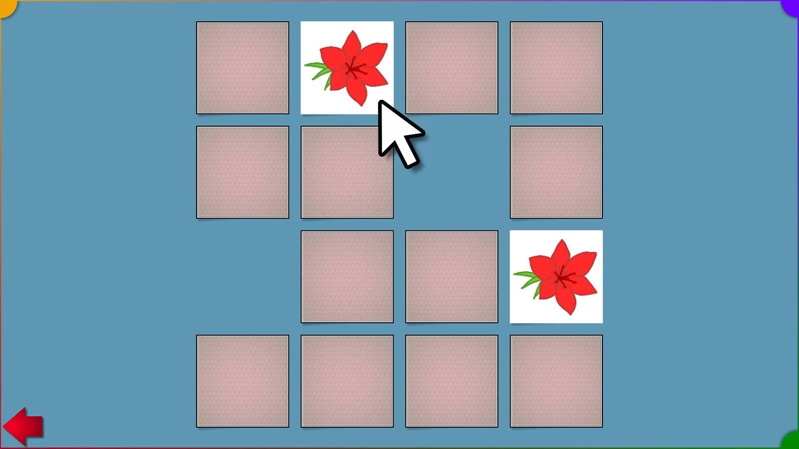 Memospiel mit verschiedenen Kartensets (einstellbar von 2x2 bis 6x6 Teilen)