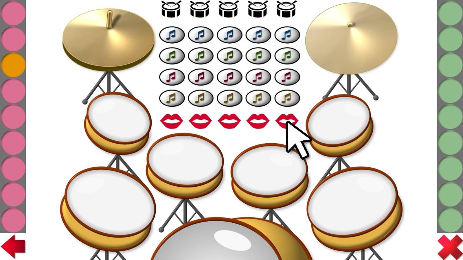 Schlagzeug mit vielen verschiedenen Begleiteffekten