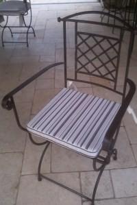"""Galette de chaise pour """"Bastide St Mathieu"""""""