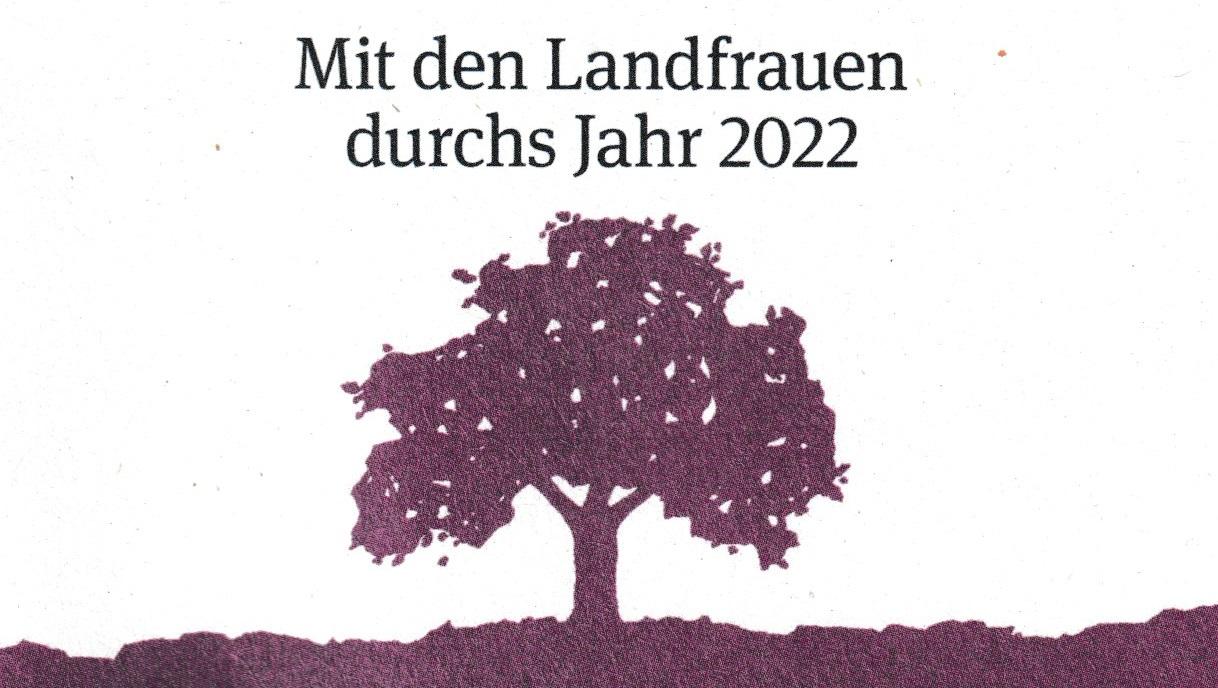 Mit den LandFrauen durchs Jahr 2022 - Kalenderbestellung