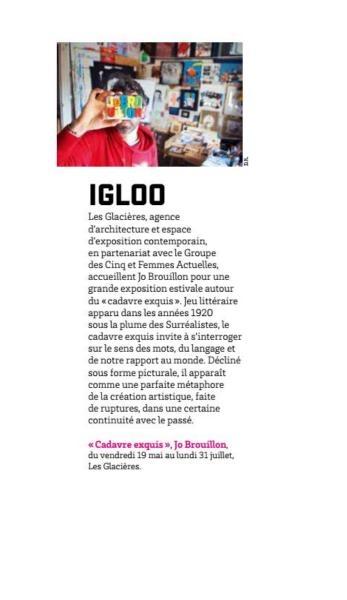 IGLOO, Jo Brouillon aux Glacières, Junkpage n°45, mai 2017