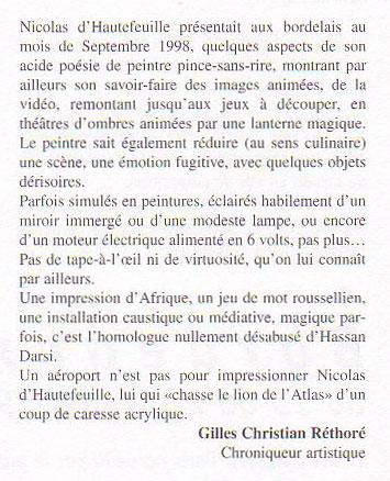 Gilles Christian Rhétoré Article