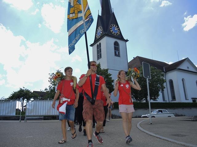 23. Juni 2019: Eintreffen an der Chilbi in Gossau. Foto: Beat Kohler, Grüt