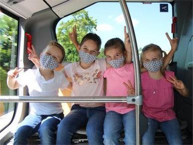 Neu im Angebot: Kindermasken aus Baumwolle. Bild: ollifant.ch