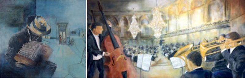 Die Leidenschaft für Musik spiegelt sich in seinen Bildern wider. Bilder: zvg