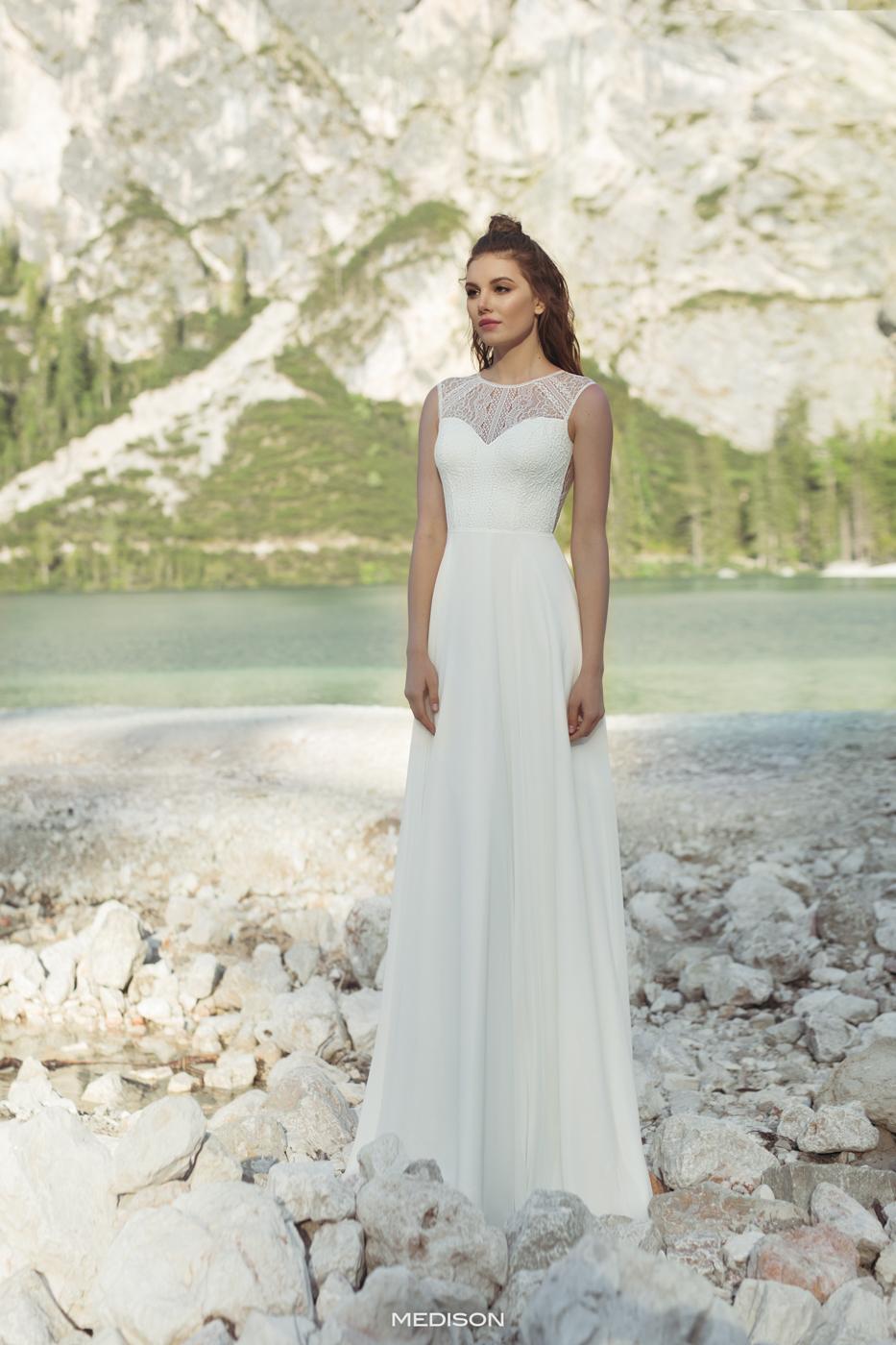 vintage Brautkleid hochgeschlossen feine Spitze ivory myLovely München Brautkleid