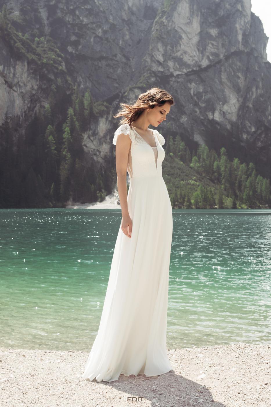 Brautkleider Designer Le Rina bei myLovely München vintage süße Ärmel Spitze