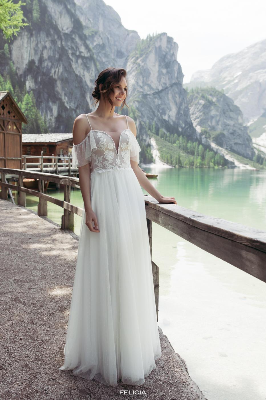 Le Rina Brautkleider cappuchino München bei myLovely Softtüll elegant high quality