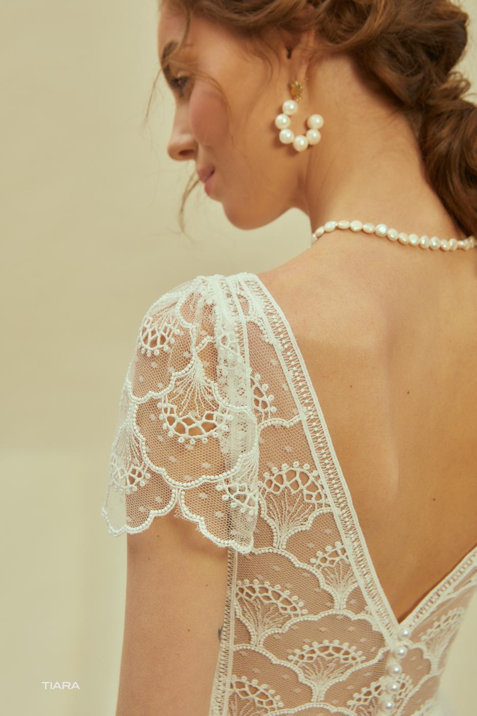 außergewöhnliches Brautkleid tolle Spitze Bohemian Bride Weddingdress T Shirt Ärmel mylovely