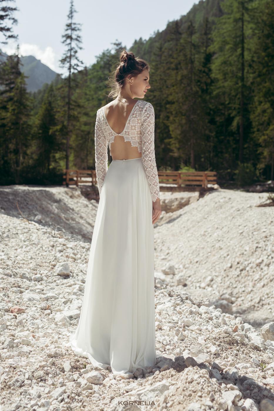 tiefer Rückenausschnitt bohemian boho Weddingdress myLovely München couture