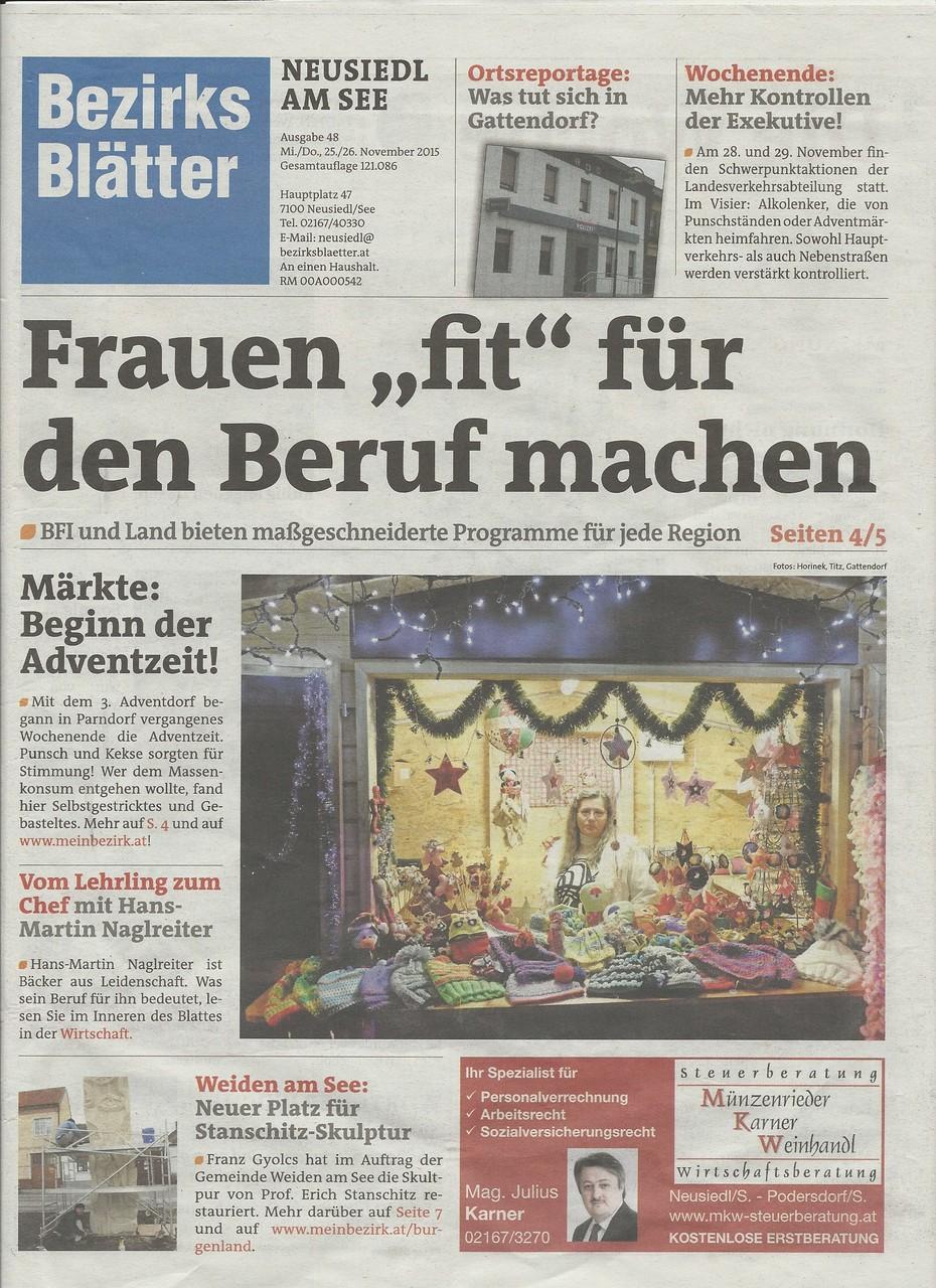 Bezirksblatt 25.11.2015