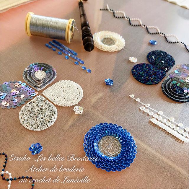 オートクチュール刺繍教室、アート刺繍教室、リュネビル刺繍教室 成田悦子 Etsuko Narita Etsuko -Les belles Broderies-