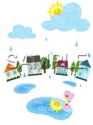 イメージイラスト/雨上がり