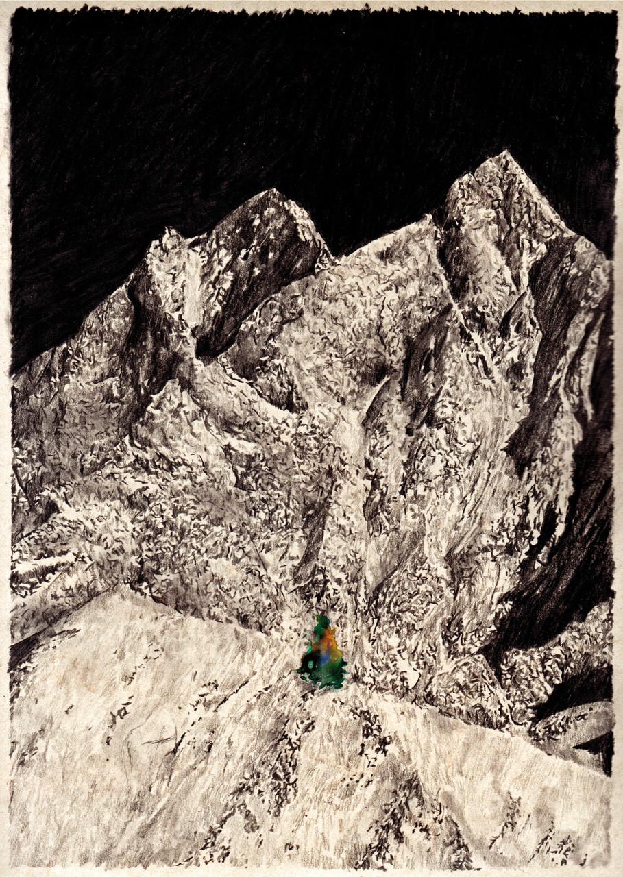 Lost TrackVI 30x40cm pencil, watercolor 2016