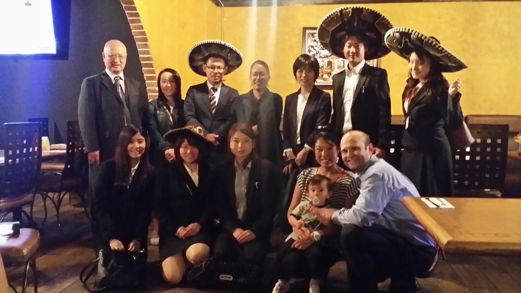 9月10日 山下かすみさんの講演を終えて。La Haciendaメキシコ料理レストラン 玉井会長提供