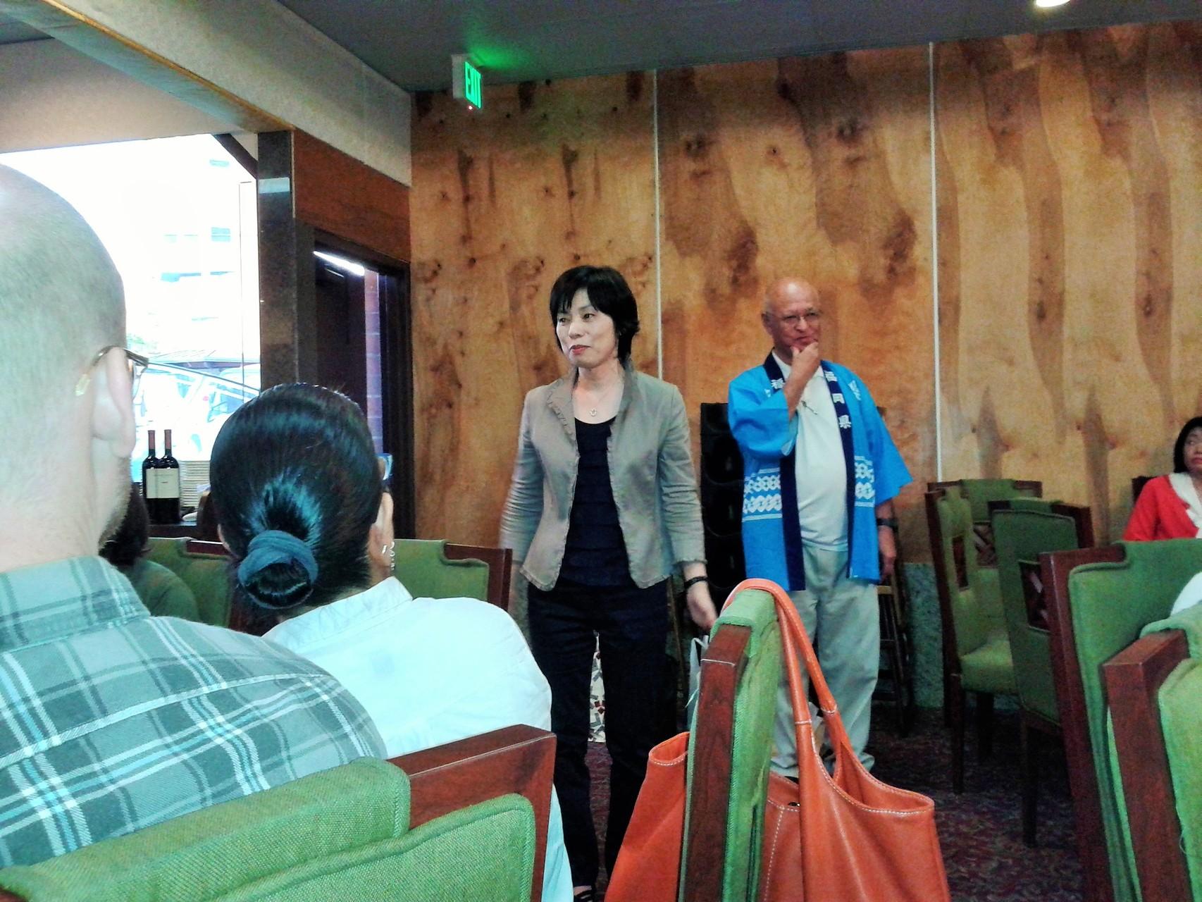 9月13日 歓迎会での高崎国際交流センター事務局長の挨拶。