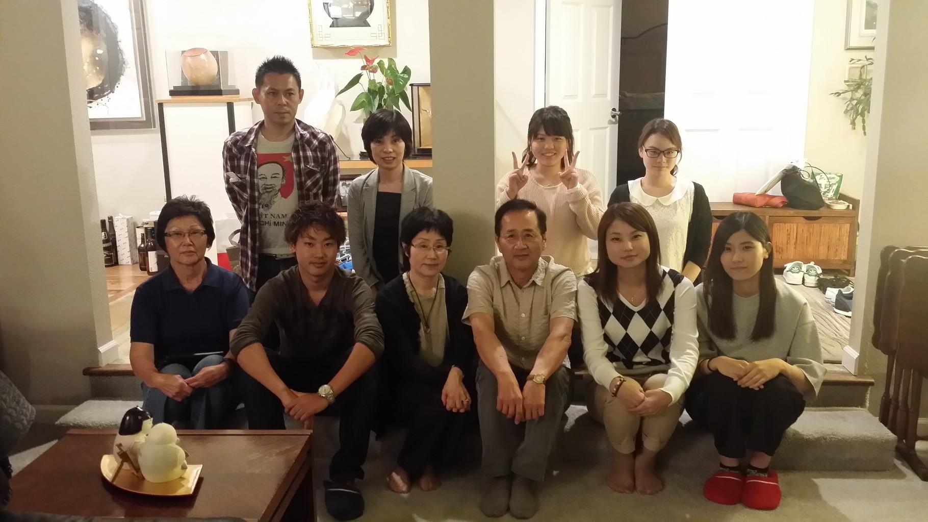 9月12日 玉井宅にて夕食後末次副会長の講演が終わった後。 玉井会長提供