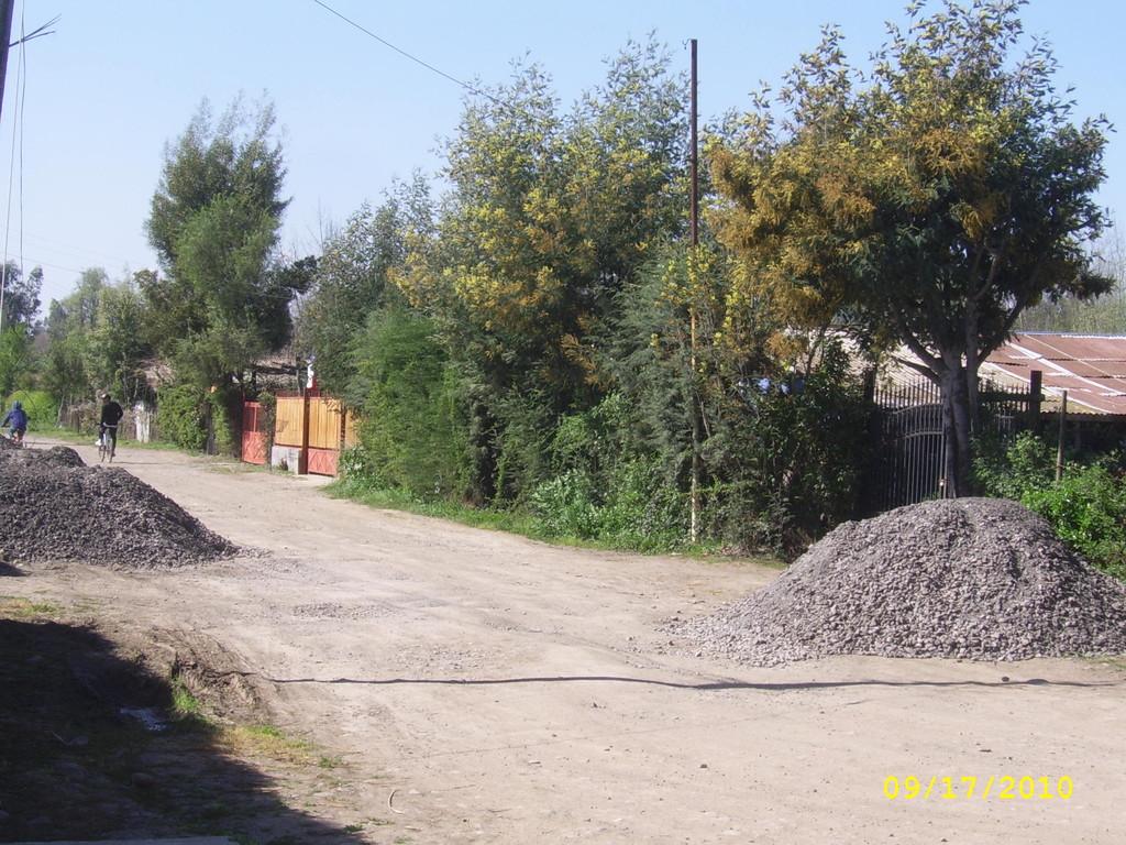 Población Alborada - Actual construcción de camino