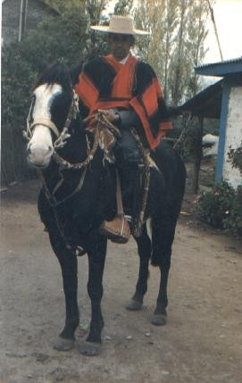 Gaspar González Ubilla y su caballo Visto- Bueno