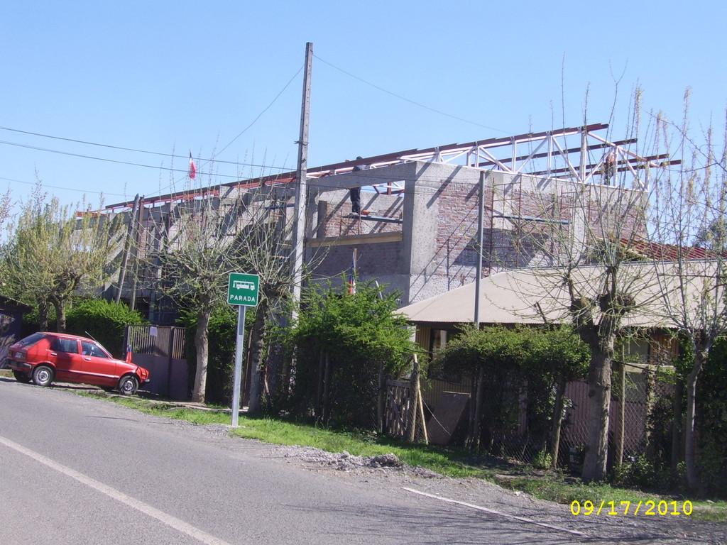 Escuela F-449 en Plena Construcción Año 2010