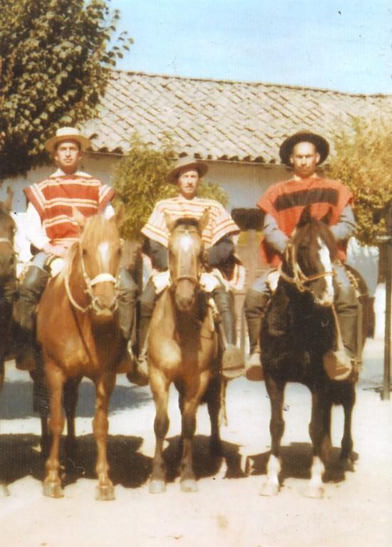 Carlos Pino Aguilar, Héctor Ureta Salinas y Gaspar González Ubilla - Año  1975
